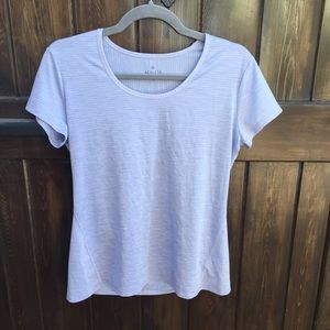 Athleta Ribbed Periwinkle Blue Short Sleeve Shirt